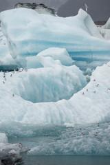 Gletscherlagune Jökulsárlón am Fuß des Vatnajökull, Island