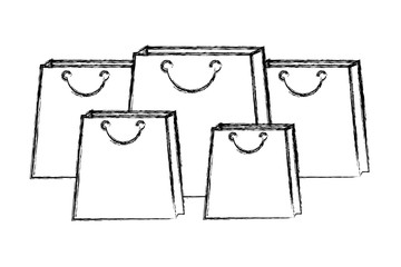 set shopping bags commercial icons