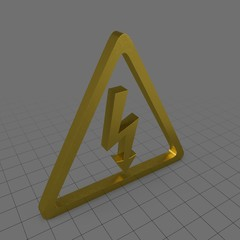 High voltage electric shock symbol