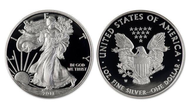 Silver Eagle Dollar.