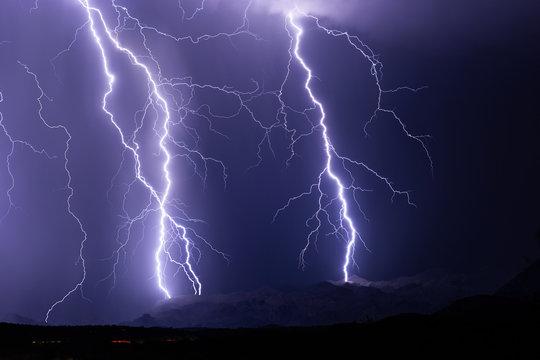 Lightning bolt thunderstorm background