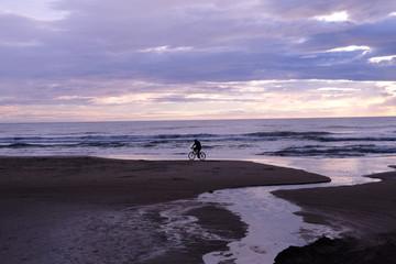 Sunset bike beach