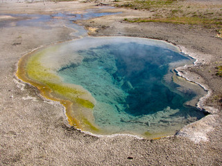 Colorful hot spring in Yellowstone National Park, USA