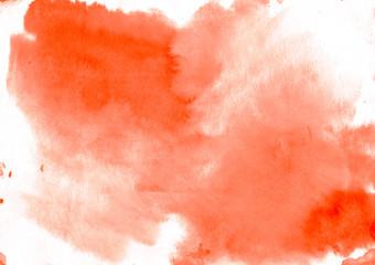 Orange watercolor background - paper texture