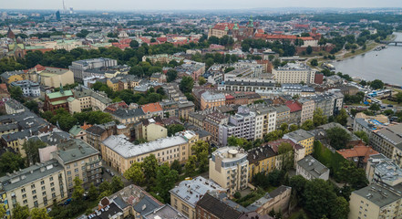 aerial view of the Old Town in Krakow