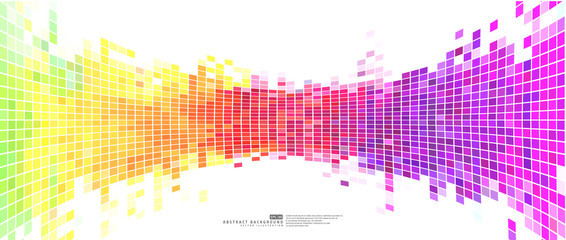 Colorful abstract background mosaic pixels