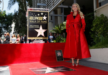 Singer Carrie Underwood receives a star on Hollywood Walk of Fame