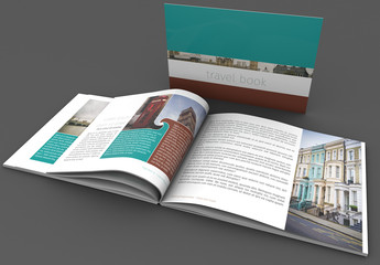 Wavy Teal and Brown Book Layout