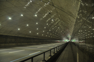 The tunnel in the mountain in Rio