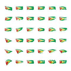 Guyana flag, vector illustration on a white background.