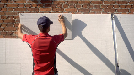 Styrofoam, Polystyrene Insulation Of Facade Fototapete