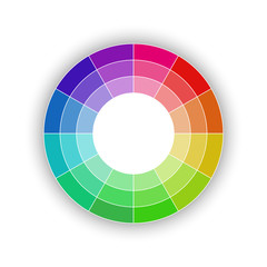 Round color palette isolated on white background, color schemes and spectrum, vector illustration