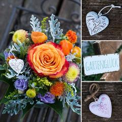 Farbenfroher Blumenstrauß - Collage
