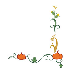 Autumn Themed Border - Harvest