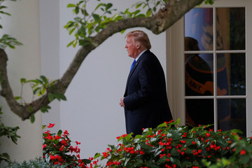 U.S. President Donald Trump departs the White House, to travel to Nevada for a campaign rally, in Washington