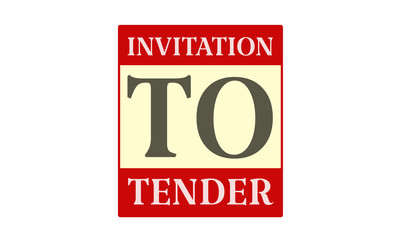 Invitation To Tender - written on red card on white background