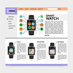 Flat Modern Technology Website Template