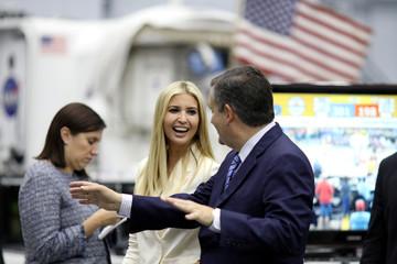 White House Senior Advisor Trump and U.S. Senator Cruz (R-TX) tour the Johnson Space Center in Houston