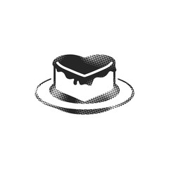 Halftone Icon - Chocolate cake