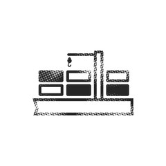 Halftone Icon - Container shipping