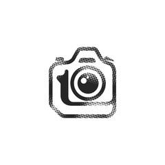 Halftone Icon - Camera