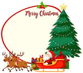 Merry christmas frame concept