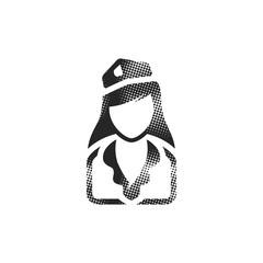 Halftone Icon - Stewardess avatar