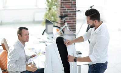 menswear designers working in the Studio.