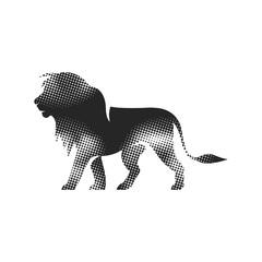 Halftone Icon - Lion