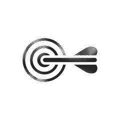 Halftone Icon - Arrow bullseye