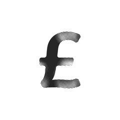 Halftone Icon - Poundsterling symbol