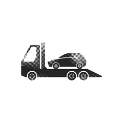Halftone Icon - Car towing