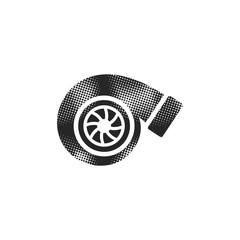 Halftone Icon - Turbo charger