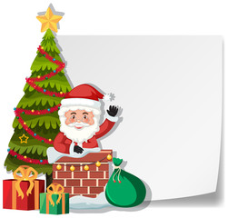 A santa delivery gift by chimney paper template