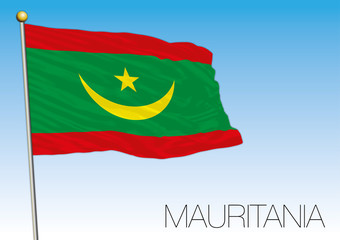 Mauritania new flag design 2017, vector illustration