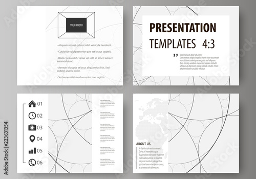 Set Of Business Templates For Presentation Slides Easy Editable Abstract Vector Layouts In Flat Design