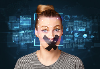 Taped Face Recognition System concept