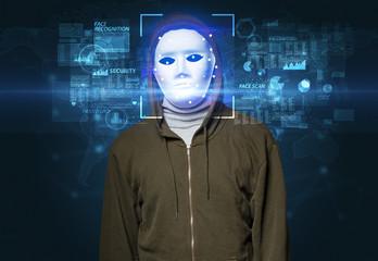 Biometric verification. Face recognition with several points
