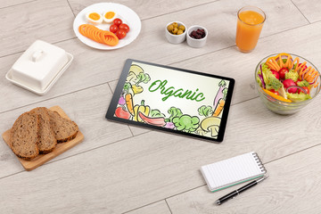 Healthy food composition with tablet