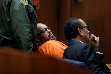"""Marion """"Suge"""" Knight appears in Los Angeles Superior Court for a fatal 2015 hit-and-run in Los Angeles"""