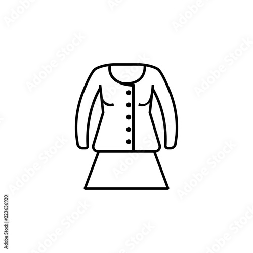 Clothes jacket woman icon  Element of clothes icon for