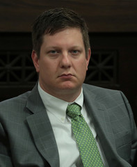 Chicago police officer Jason Van Dyke listens in during his trial for the shooting death of Laquan McDonald at the Leighton Criminal Court Building in Chicago