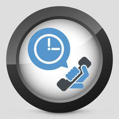 Clock phone icon