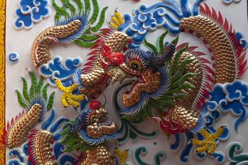 chinese dragon on the wall