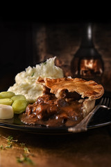 Foto op Aluminium Buffet, Bar Steak And Ale Pie
