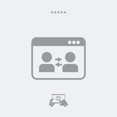 Users communication icon
