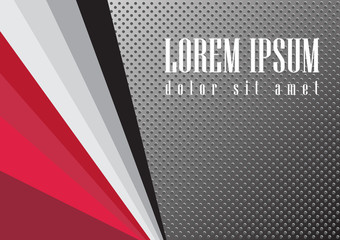 Abstract red black metallic color background Vector illustration