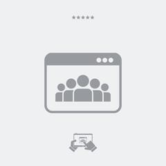 Social network concept icon