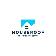 home house logo vector icon