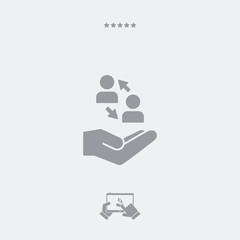 Social network - flat icon